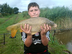Caught 7/8/08 from Moss Lake, not sure what he was fishing on at the time, 11lb 12oz ghostie for Connor.