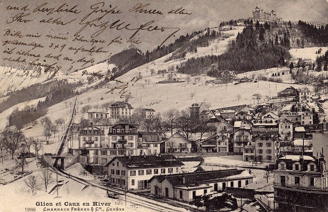Postcard from Switzerland 1922  A side
