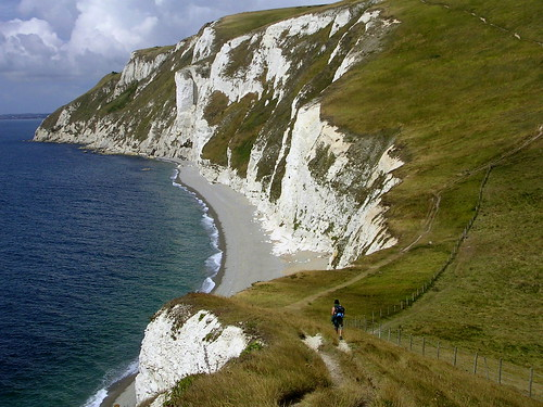 The south west coastal path in Cornwall