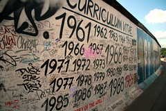 Portion of the Berlin Wall with words