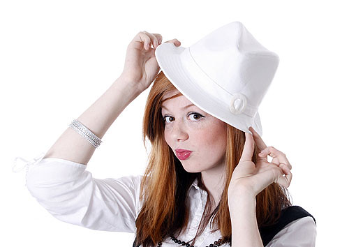 Teen Girl with Hat