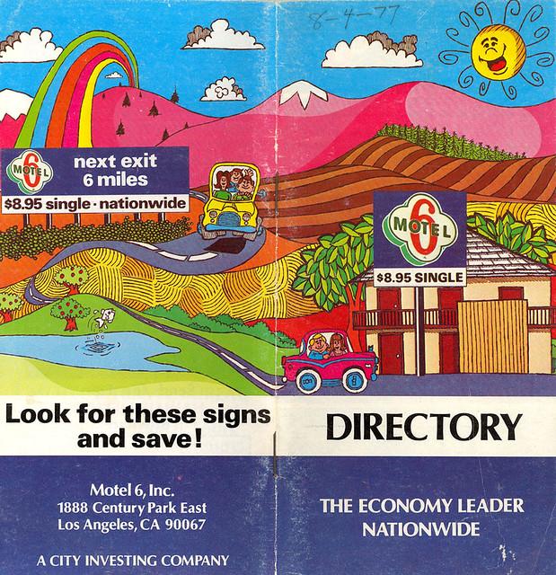 1977 Motel 6 Directory
