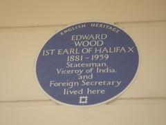 Photo of Edward Wood blue plaque