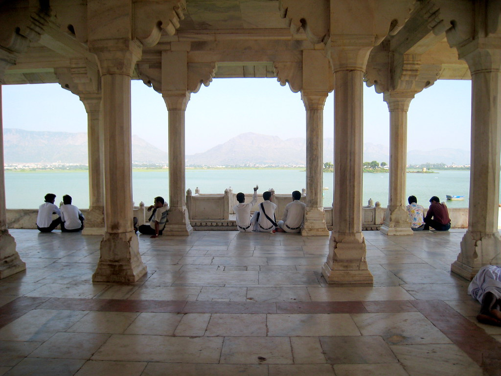 Ajmer: Ana Sagar lake, pavilions (baradaris): Shah Jehan, mid 17th century
