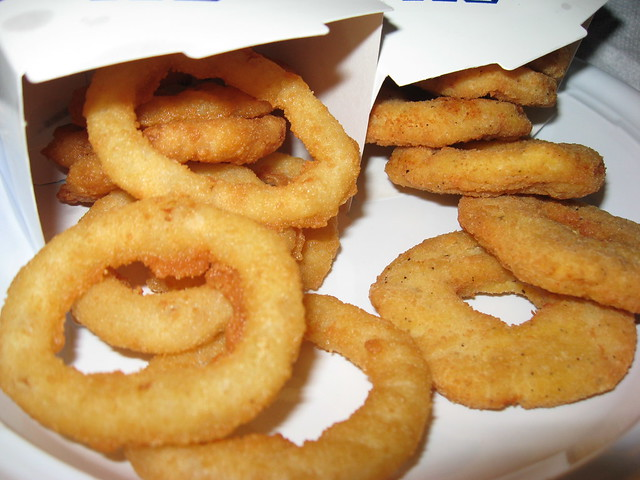 white castle rings and chicken rings up