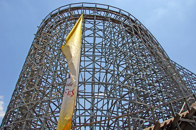 Busch Gardens Wooden Roller Coaster Flickr Photo Sharing