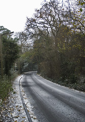 Merstham, winter in November,  Surrey, UK