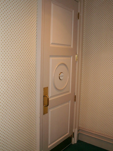 Yacht Club convention Hall Restroom - Door