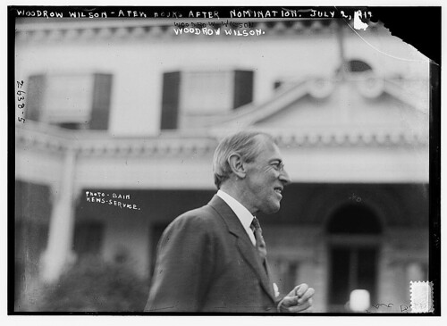 Woodrow Wilson a few hours after nomination, July 2, 1912 (LOC)