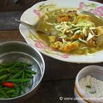 Burmese Food, Samosa Soup - Rangoon, Burma (Yangon, Myanmar)
