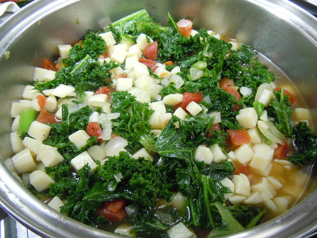 Cooking Vegetarian Kale Soup | Flickr - Photo Sharing!