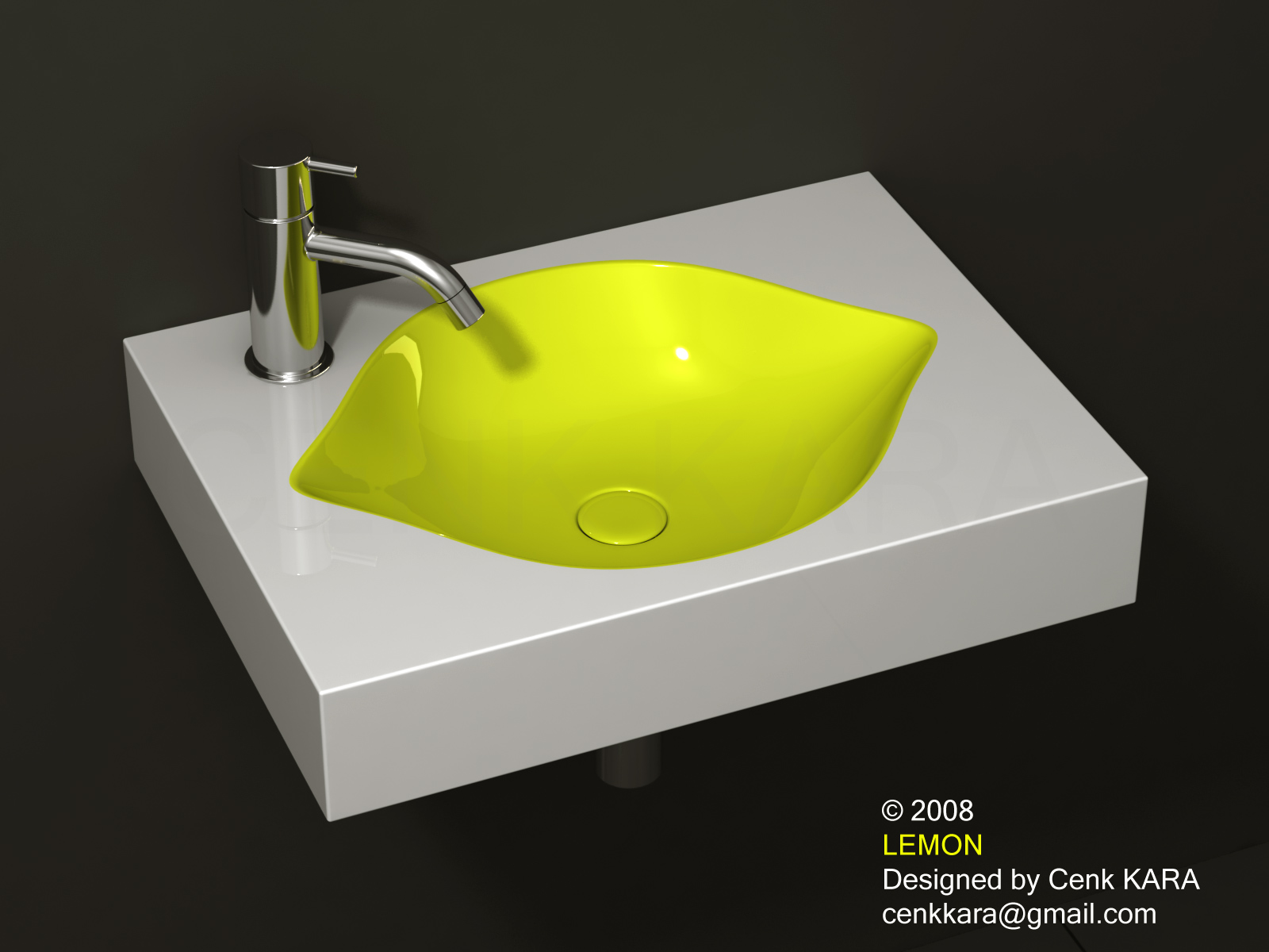 Cenk kara designer lemon sink design - Designer sinks ...