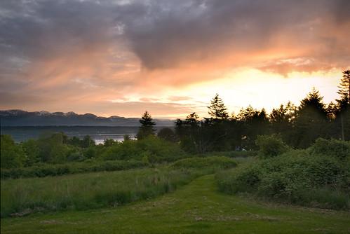 sunset sky island britishcolumbia hornbyisland