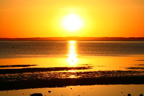 ocean sunset sea summer sun water denmark sommer solnedgang uldbjerg
