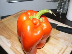 Bell pepper with weird curl