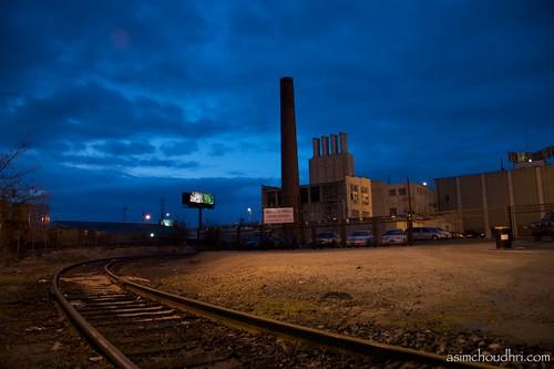 night evening factory kentucky louisville railroadtracks canon30d canonefs1785