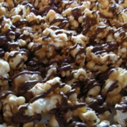 Peanut Butter Popcorn with Chocolate Drizzle | Flickr - Photo Sharing!