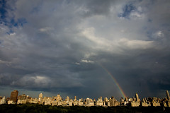 storm, horizon, cumulus, cloud, rainbow, sunlight, evening, cityscape, skyline, sky,