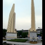 2008-10-02 Democracy Monument, Ratchadamnoen Avenue, Bangkok, Thailand.