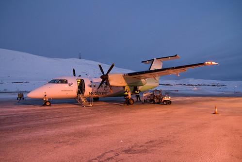 Plane to Hammerfest