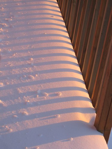 Winter sunset/snow shadows