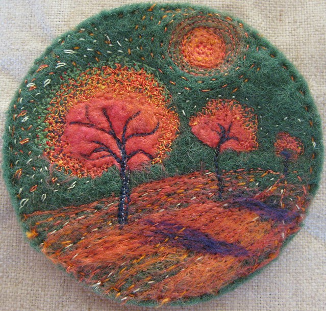 Art Embroidery Brooch