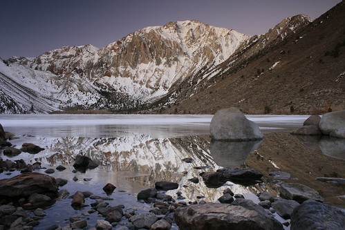 Convict Lake rock reflection
