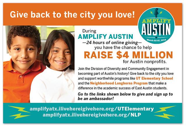 Amplify Austin postcard