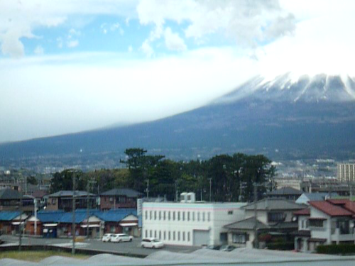 mount fuji from the shinkansen