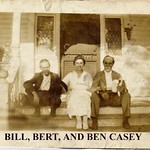 "Ben Casey, Bertha ""Bert"" Casey, and Bill Casey at the Harrell House in Wayne County, North Carolina; ca 1915"