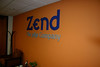 Zend logo on the wall of the Cupertino headquarters by Ivo Jansch