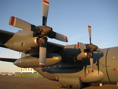 aviation, airplane, propeller driven aircraft, vehicle, military transport aircraft, propeller, lockheed c-130 hercules, air force,