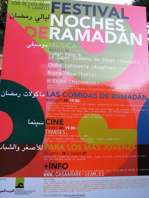Cartel del Festival Noches de Ramadán