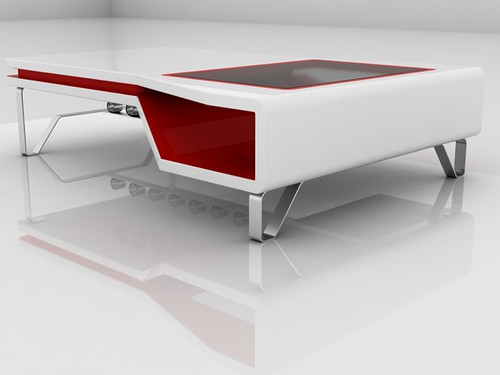 White And Red Coffee Table 16 Flickr Photo Sharing