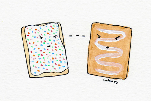 Pop Tart Vs. Toaster Strudel