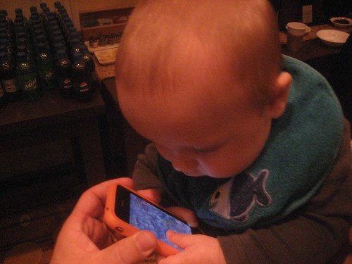 Baby and iPhone