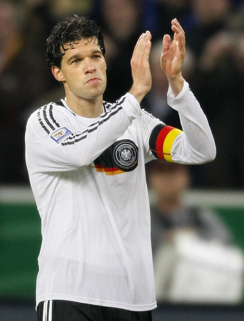Germany's midfielder Michael Ballack