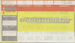 08/25/00 REO Speedwagon/Styx @ Minnesota State Fair - St. Paul, MN (Ticket)