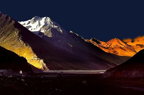 sunset india color colour beauty landscape twilight hp sundown valley himalaya himachal spiti chandra lopamudra batal