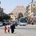 Pyramid of Khafre view from Giza city, Egypt エジプト、ギザの町とピラミッド by travelingmipo
