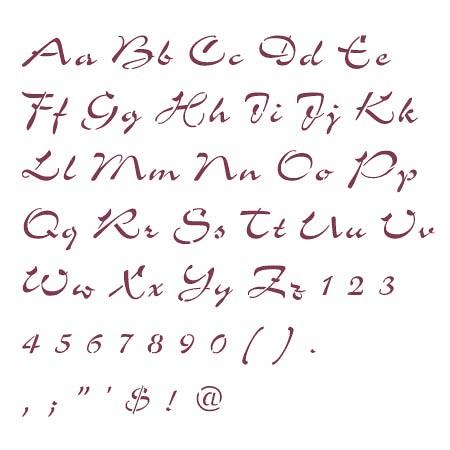 Script+lettering+stencils