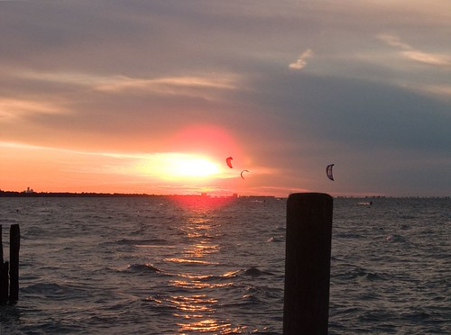 sunset geotagged essexcounty parasailing mapped lakestclair