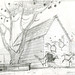 "From ""Banjo the Woodpile Cat"", pencil drawing from Sequence 001, Scene 1."