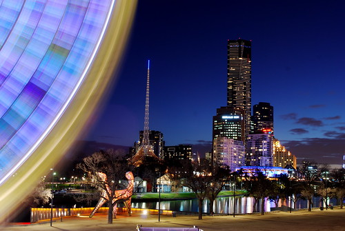 Wheel and Skyline, Melbourne