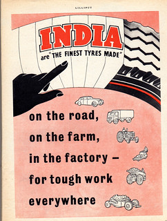 Rubber tyre advert 1955
