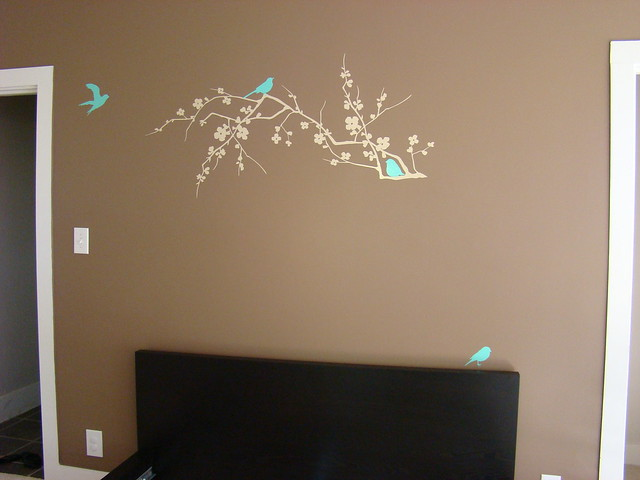new wall vinyl decal in our master bedroom flickr