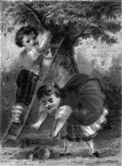 Boy and Girl Picking Fruit