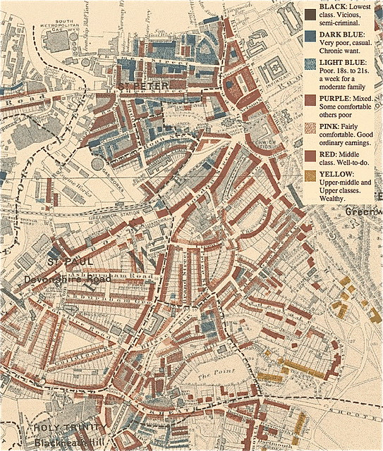 Charles Booth poverty map 1898