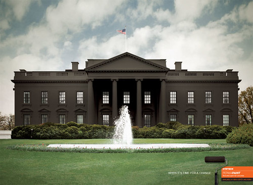 paint the whitehouse black ad flickr photo sharing
