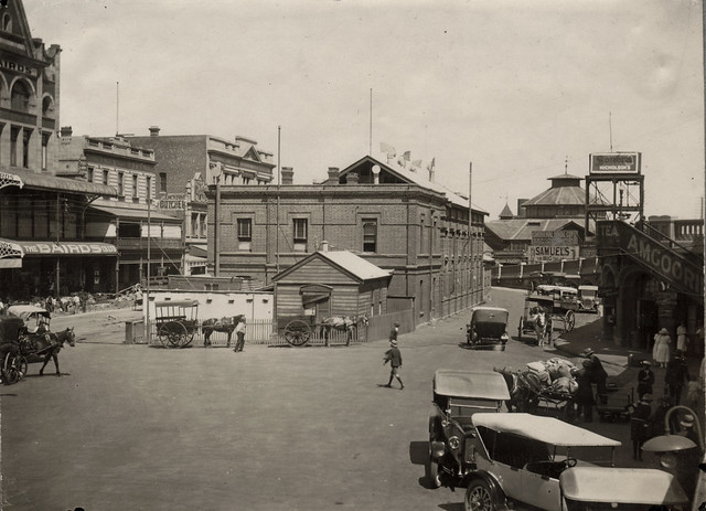Railway offices in front of Perth Station, Western Australia